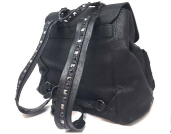 Inzi Black Studded backpack
