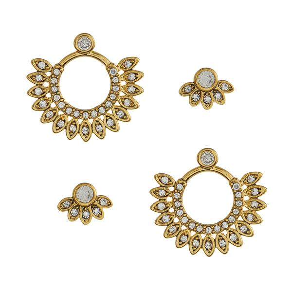 Cosmic Flare Earring - Gold