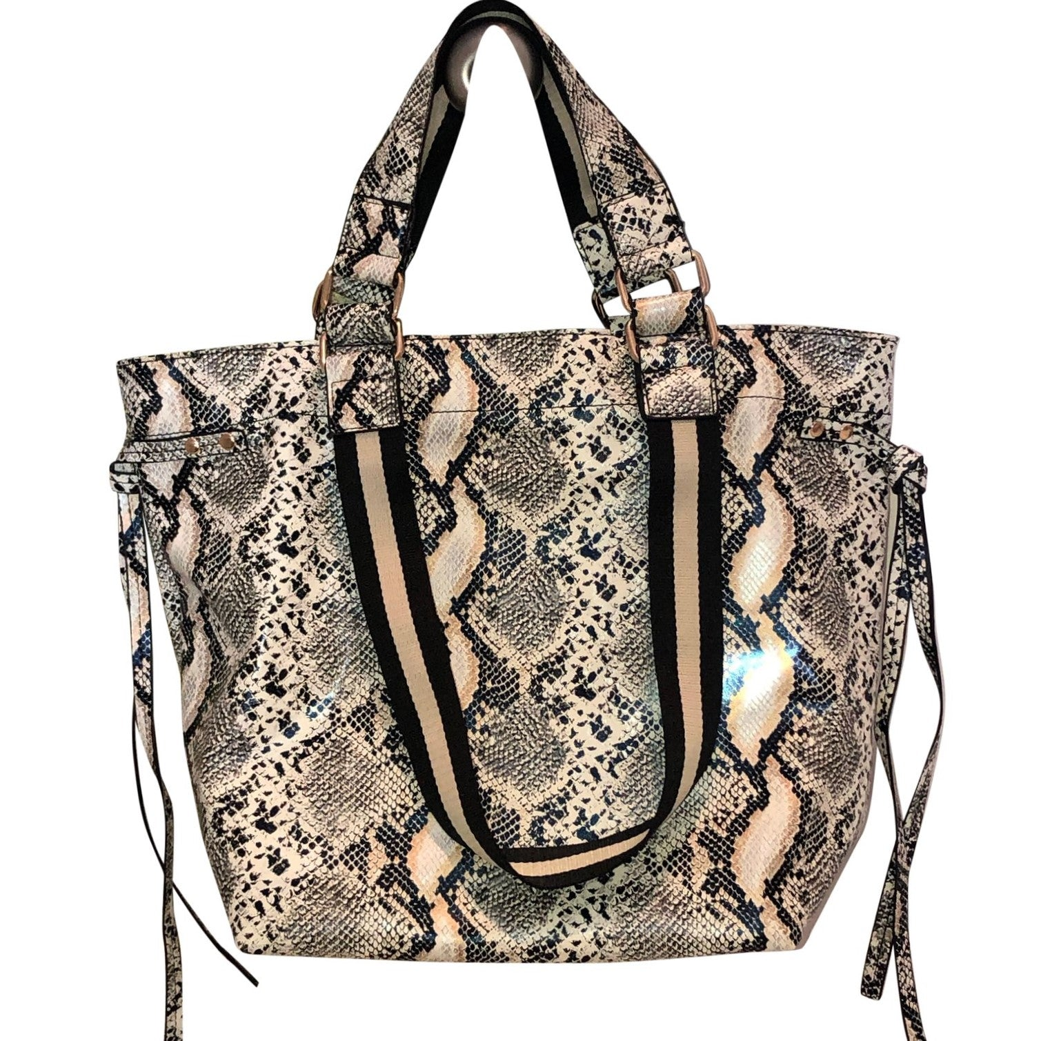 Double Handle Python Print Tote