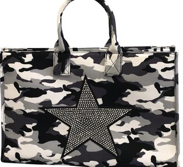 Grey Camo Shopper with Star