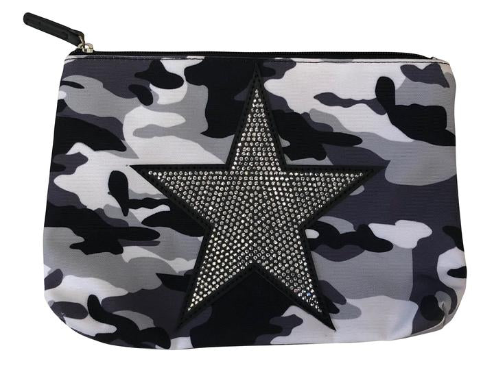 Grey Camo Pouch with Star