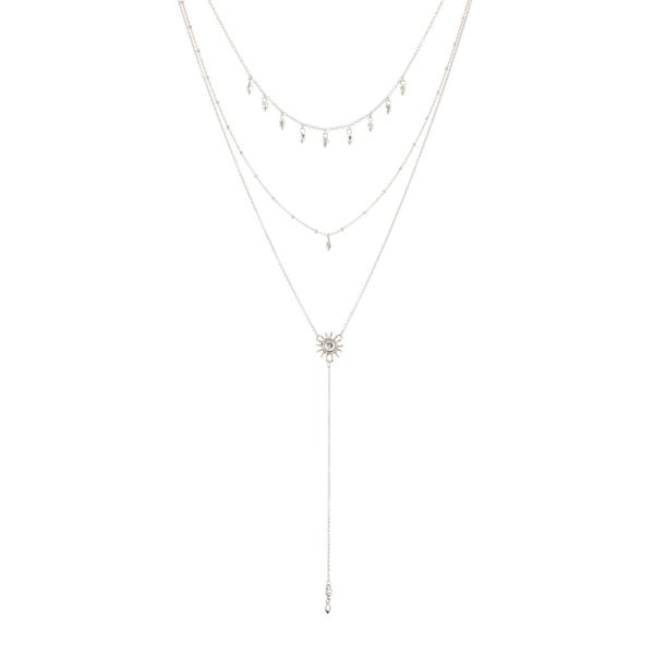 Sunburst Lariat in Silver