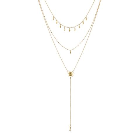 Sunburst Lariat in gold