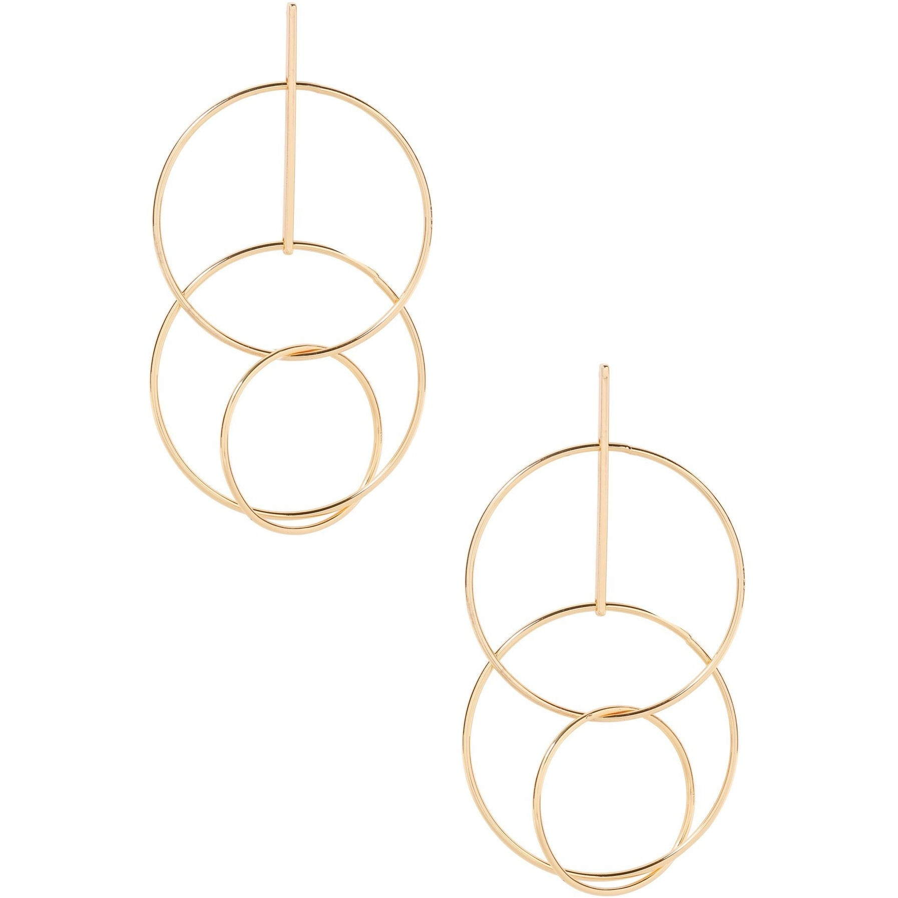 Cyclical Feeling Earrings in Gold