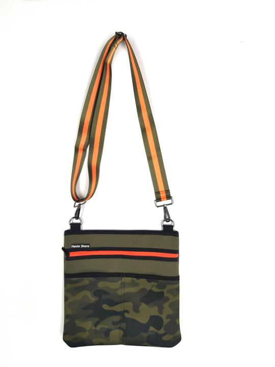Neoprene Green Camo Crossbody