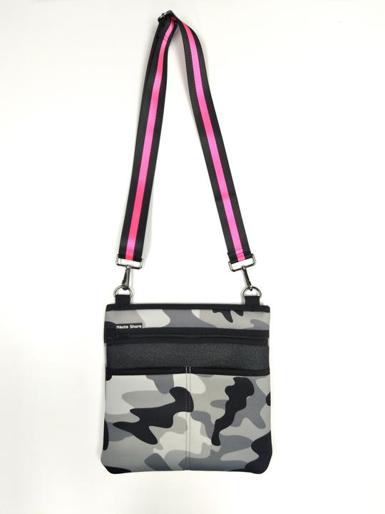 Neoprene Grey Camo Crossbody