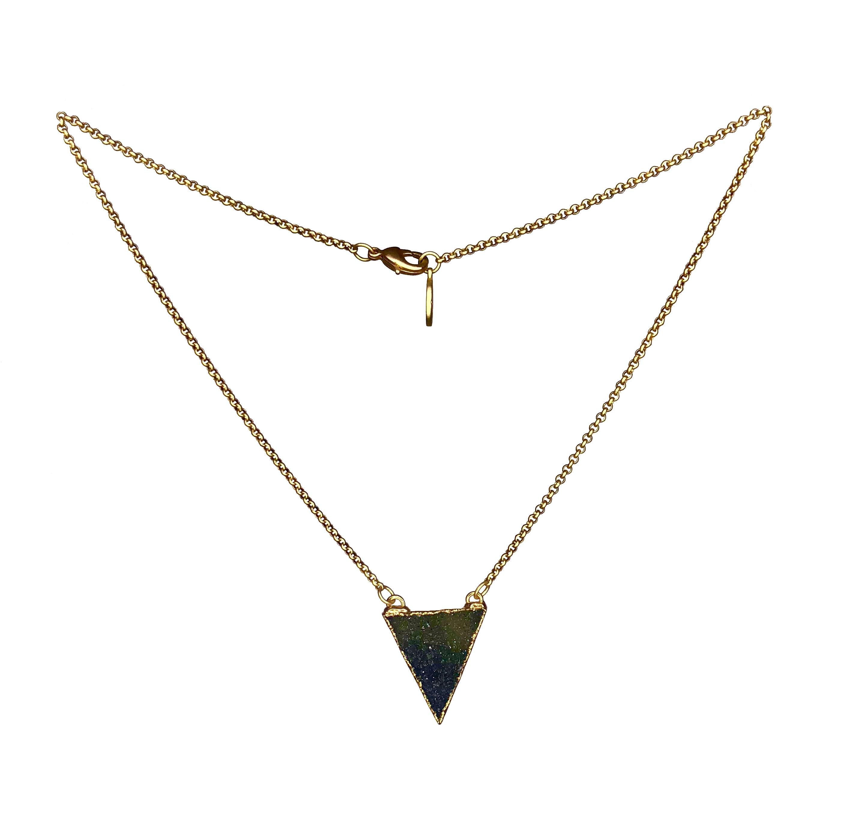 Druzy Triangle Necklace