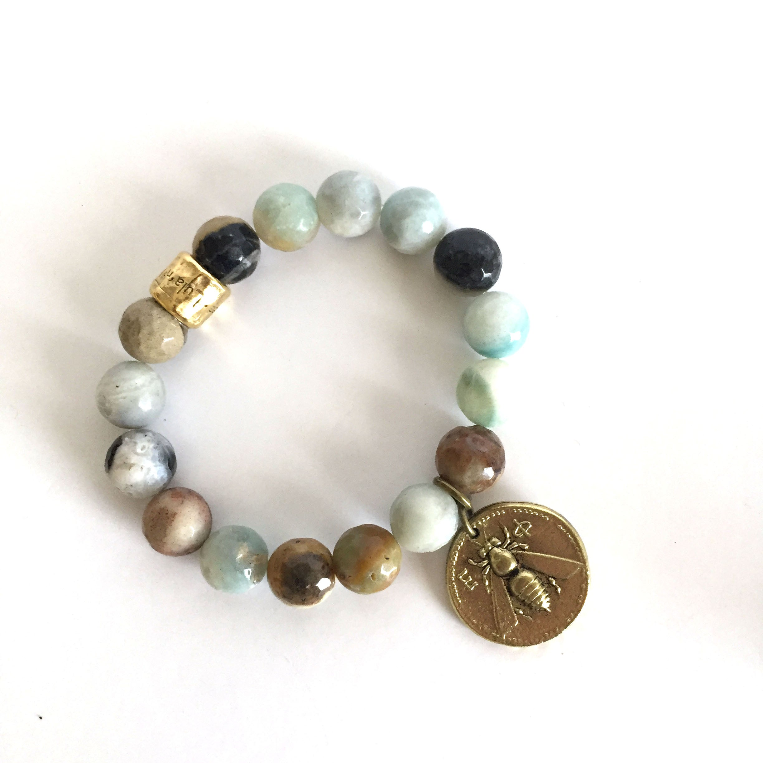 Stretch Beaded Amazonite Bracelet