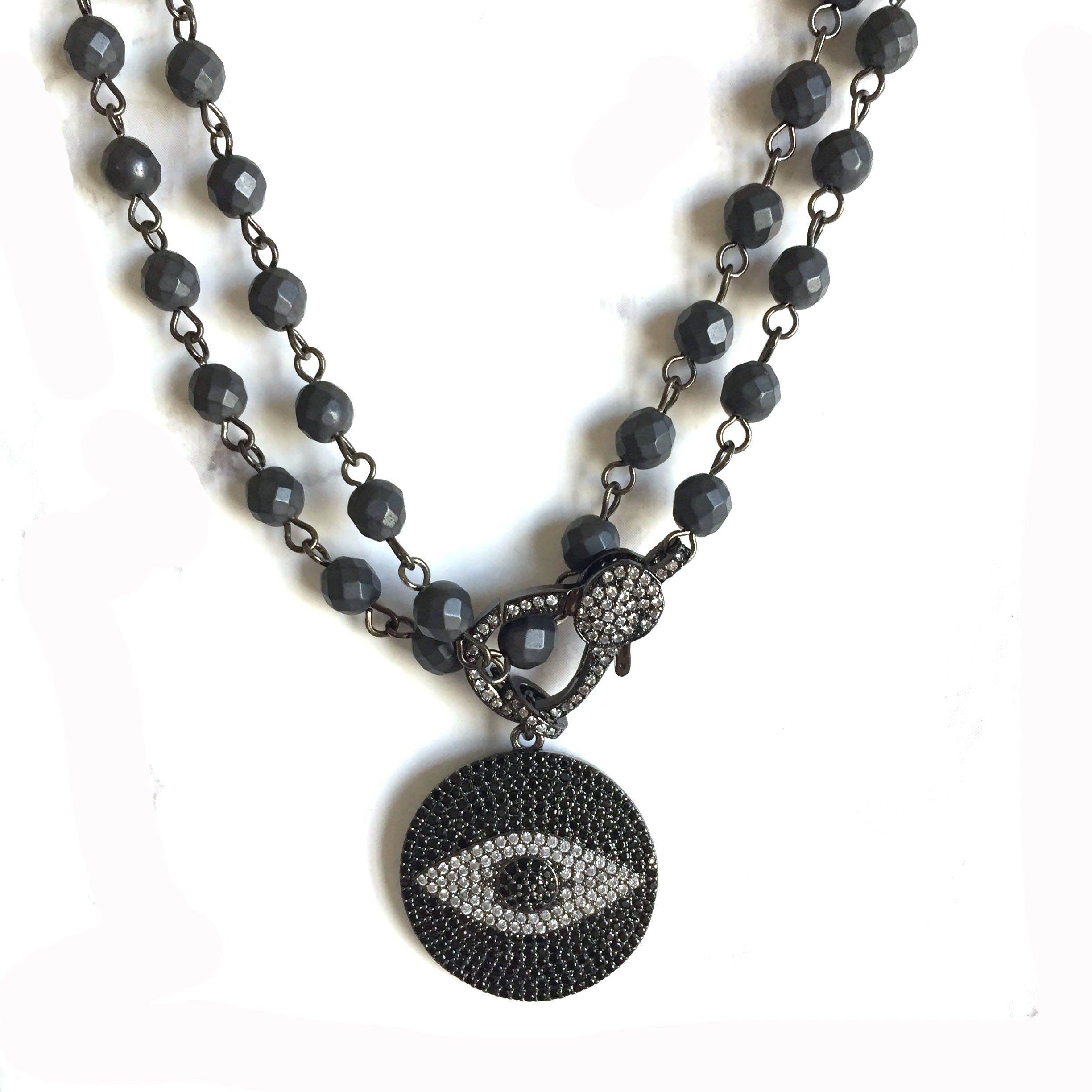 Pave Eye Necklace