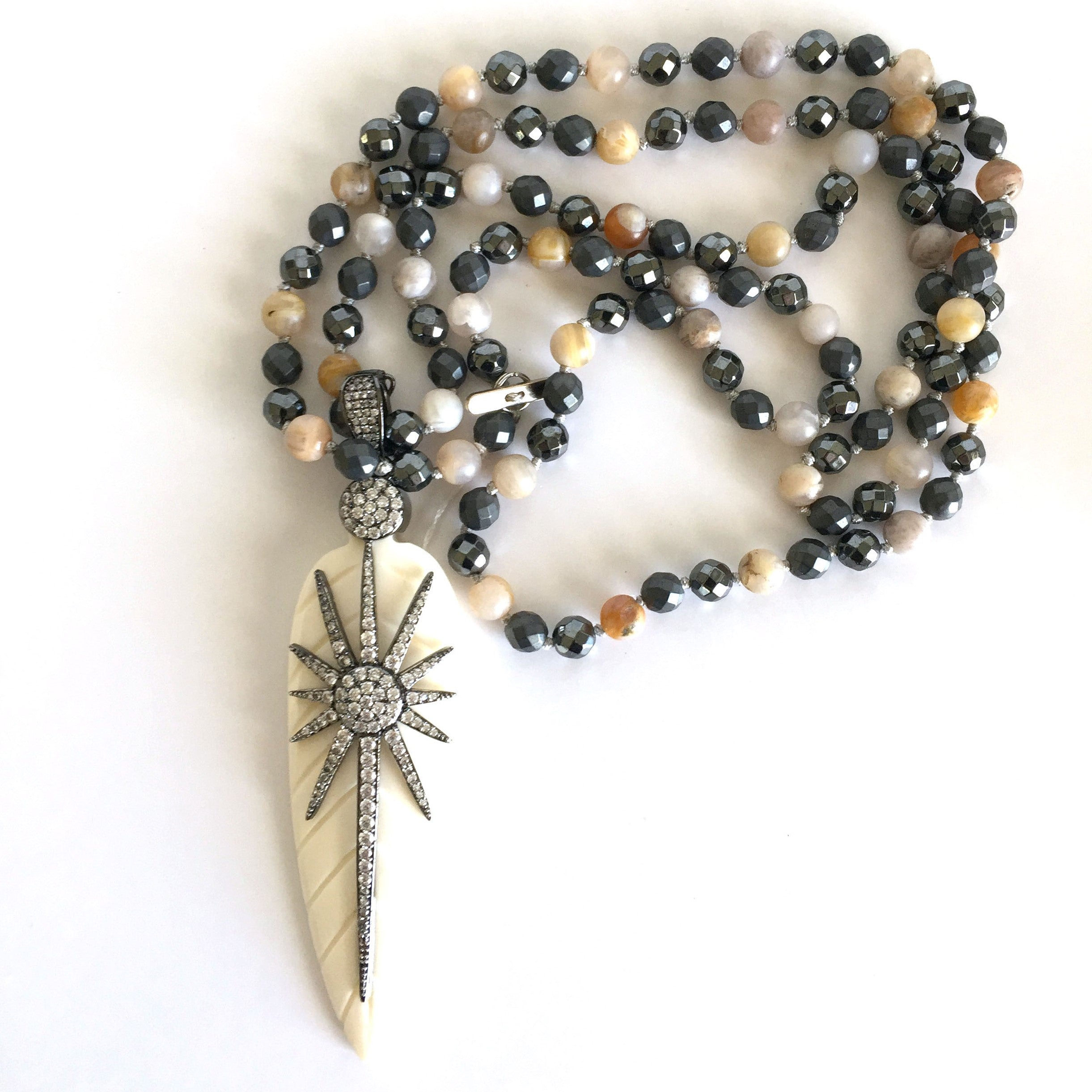 Beaded Necklace with Arrow Head