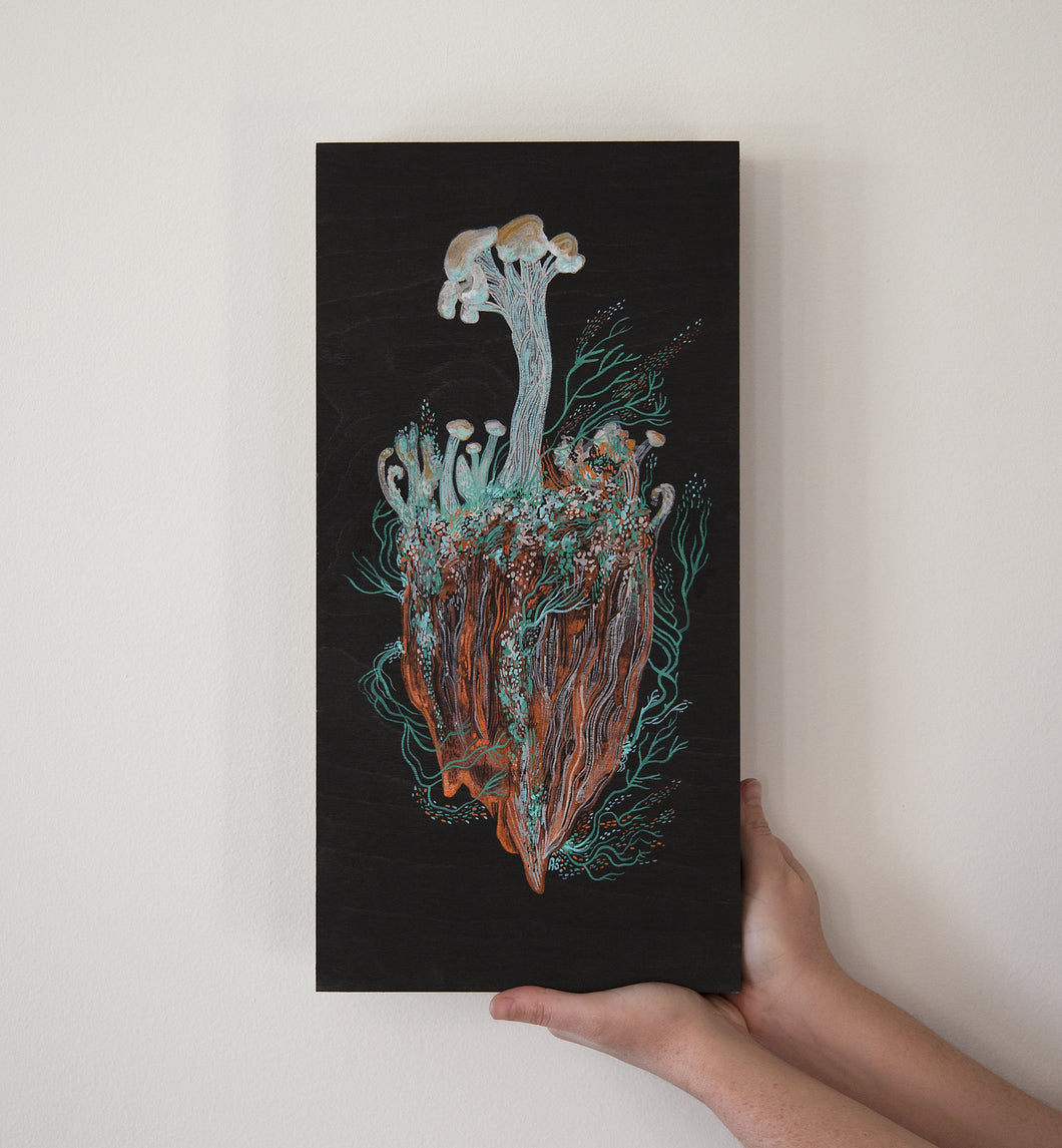 Wooden Soldiers Lichen Painting
