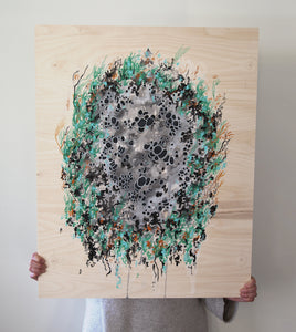 Gray Star Lichen Painting