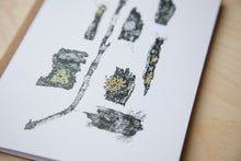 Premium Greeting Cards: Edmonton River Vally Lichen