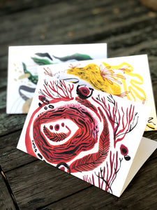 Handmade Inked Greeting Card