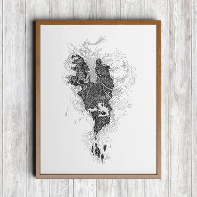 Old Mans Beard Lichen Art Print