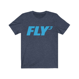 FLY³ Men's Jersey Short Sleeve T-Shirts blue type