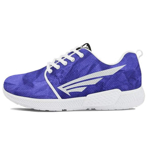 FLY Simple Shoes | Wrinkled Blue with White Trim Athletic Sneakers