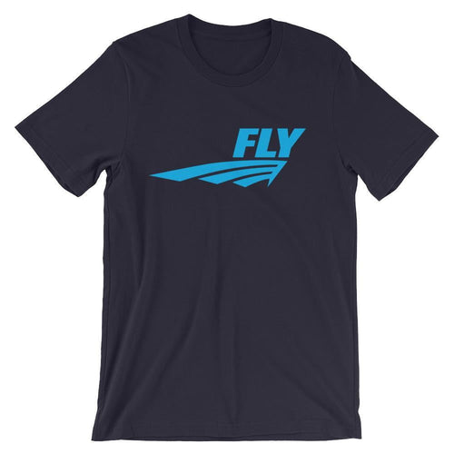 FLY Athletic Original Blue Middle of chest Men Short Sleeve T-shirt