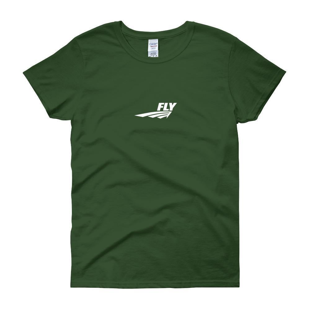 FLY Athletic Original Logo Middle Chest Short-Sleeve Ladies T-Shirt
