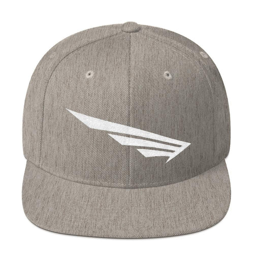 FLY³® Original Original Wing Logo (White) Men Snapback Cap