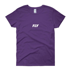 FLY Athletic Original Logo Type Middle Chest Short-Sleeve Ladies T-Shirt