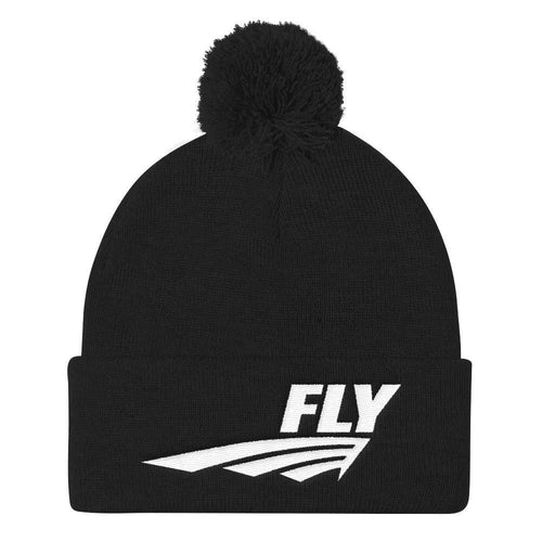 FLY Athletic original logo embroidery Pom Pom men and ladies Knit Hat