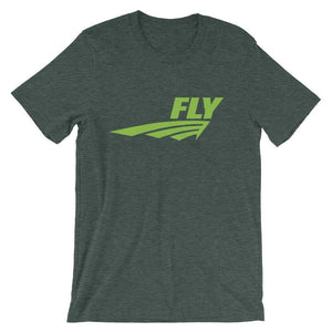 FLY Athletic Original Green Middle of chest Men Short Sleeve T-shirt