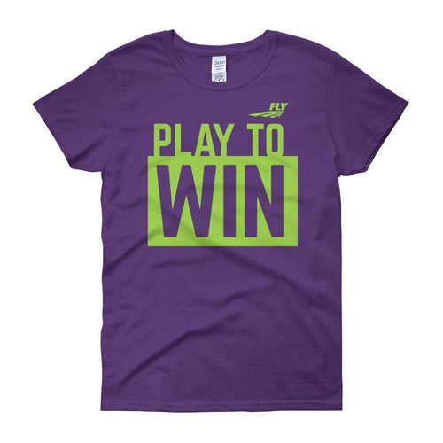 FLY Athletic Original FLY PLAY TO WIN Logo Ladies short sleeve t-shirt