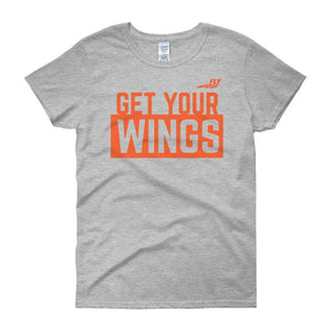 FLY Athletic Original FLY get your wings Logo Ladies short sleeve t-shirt