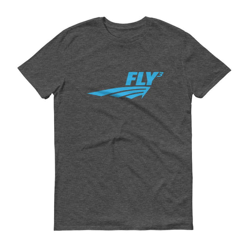 FLY³® Original Logo (Blue) Ladies Short-Sleeve T-Shirt