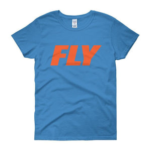 FLY Athletic Original Orange Type logo short sleeve ladies T-Shirt