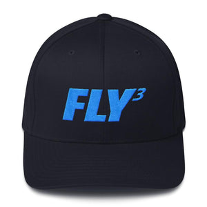 FLY³® Original Logo (Blue) Men Flexfit Cap