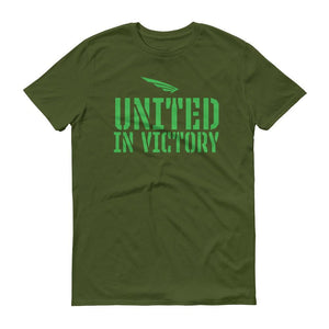 FLY³® Original UNITED IN VICTORY (Green) Men Short-Sleeve T-Shirt