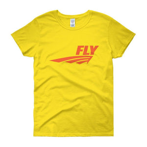 FLY Athletic Original Orange logo short sleeve ladies T-Shirt