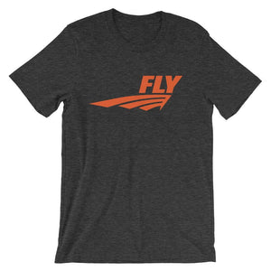 FLY Athletic Original Orange Middle of chest Men Short Sleeve T-shirt