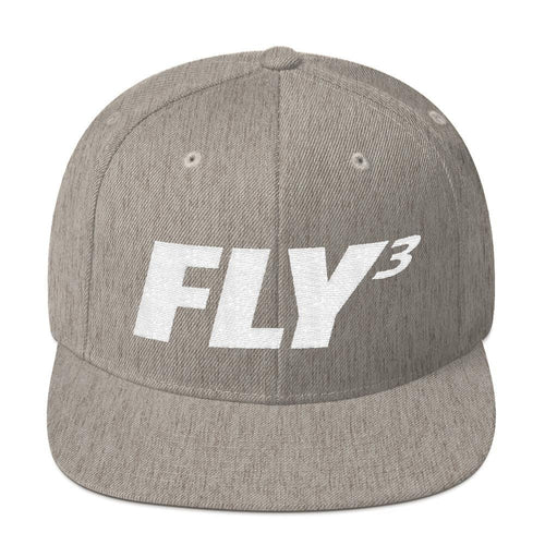 FLY³® Original FLY3 Logo (White) Men Snapback Cap