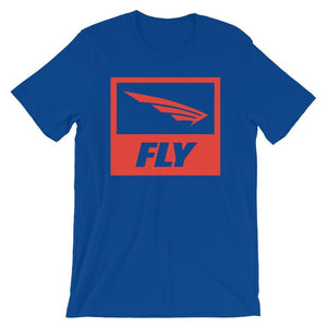 Fly Athletic Square Logo with Wings  Short-Sleeve Men T-Shirt