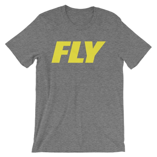 FLY Athletic Original FLY Type Yellow Logo Short-Sleeve Men T-Shirt