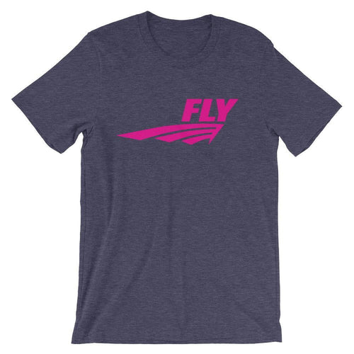 FLY Athletic Original Pink Middle of chest Men Short Sleeve T-shirt