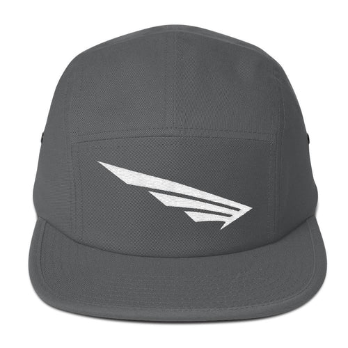 FLY³® Original Original Wing Logo (White) Men 5 Panel Camper Cap