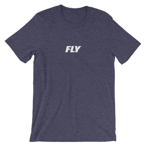 FLY Athletic Original Logo Type Middle Chest Short-Sleeve Men T-Shirt
