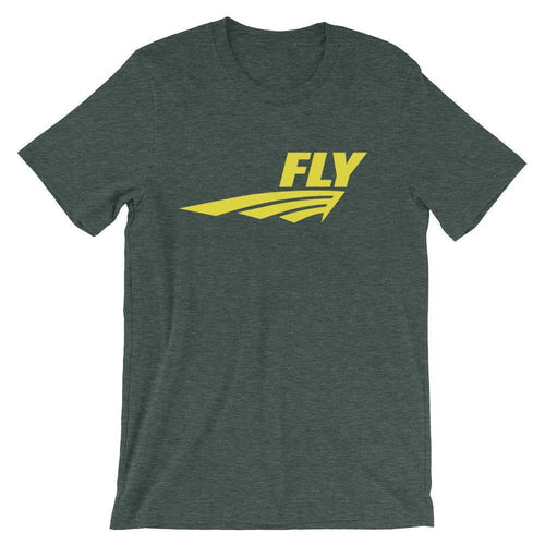 FLY Athletic Original Yellow Middle of chest Men Short Sleeve T-shirt