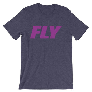 FLY Athletic Original FLY Type Purple red Logo Short-Sleeve Men T-Shirt