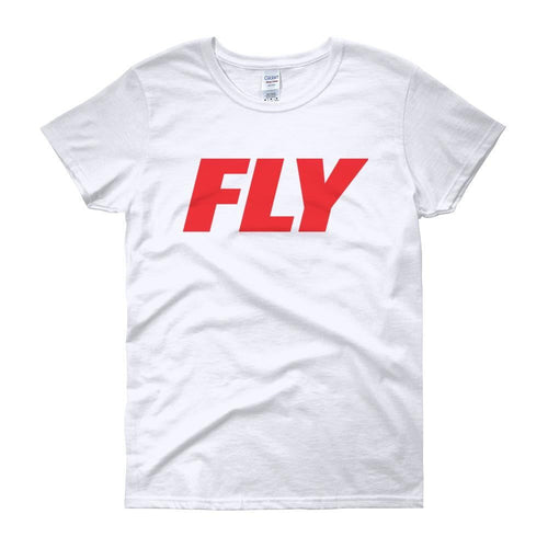 FLY Athletic Original Red Type logo short sleeve ladies T-Shirt