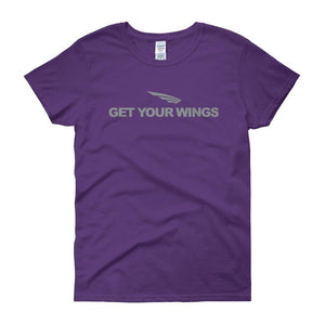 FLY Athletic Original Get Your Wings Logo Ladies short sleeve t-shirt