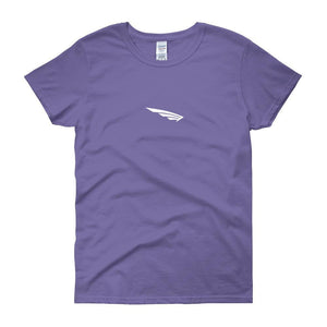 FLY Athletic Original Logo WIng Middle Chest Short-Sleeve Ladies T-Shirt