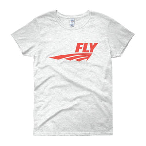 FLY Athletic Original Red logo short sleeve ladies T-Shirt