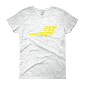 FLY Athletic Original Yellow logo short sleeve ladies T-Shirt