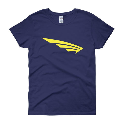 FLY Athletic Original Yellow  Wing logo short sleeve ladies T-Shirt