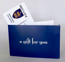 Gift card envelope with room for personal message and card value inside.